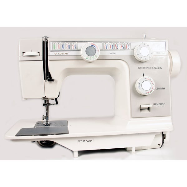 Goldstar Flat Bed Sewing Machine with Bonus Carrying Case/ Base