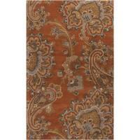 Hand-tufted Arauca Orange Wool Area Rug (8' x 11')