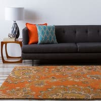 Hand-tufted Arauca Orange Wool Area Rug - 8' x 11'