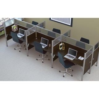Bestar Pro-Biz 55.5-inch Six-person Workstation