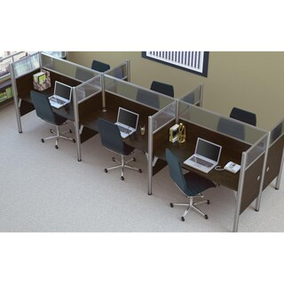 Bestar Pro-Biz 55.5-inch Six-person Workstation