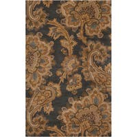 Hand-tufted Transitional Funza Grey Floral New Zealand Wool Area Rug (8' x 11')
