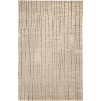 Hand-knotted Riosucio Tan Abstract Design Wool Area Rug - 2' x 3'