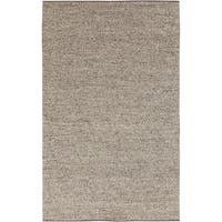 Hand-woven Eagan Casual Solid Brown Wool Area Rug - 3'3 x 5'3