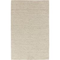 Hand-woven Minnetonka Casual Solid Ivory Wool Area Rug - 5' x 8'