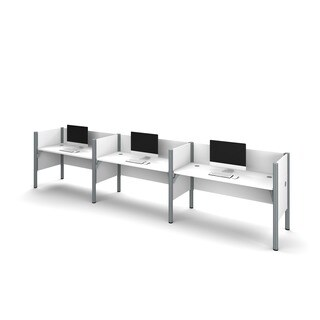 Bestar Pro-Biz 43-inch Side-by-Side Triple Workstation