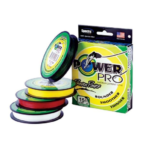 Power pro braided microfilament fishing line 15 pound 300 for Power pro braided fishing line
