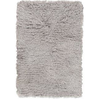 Hand-woven Chanhassen Grey Shag Area Rug (5' x 8') - 5' x 8'