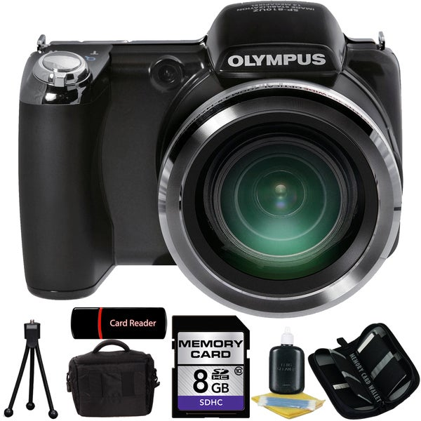 Olympus SP-810 14MP Digital Camera with 8GB Bundle