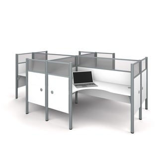 Bestar Pro-Biz Four L-desk Workstation