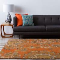 Hand-tufted Arauca Orange Wool Area Rug - 9' x 13'