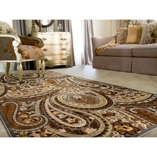 Axel Floral Paisley Brown Rug (5'2 x 7'6)