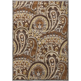Axel Floral Paisley Brown Rug (2'2 x 3')