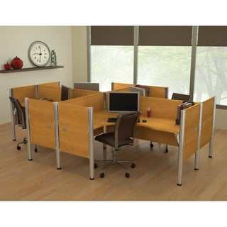 Bestar Pro-Biz Four-Person L-Desk Workstation