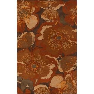 Hand-tufted Millings Brown Wool Rug (12' x 15')