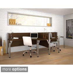 Bestar Pro-Biz Privacy Double Side-by-Side L-Desk Workstation