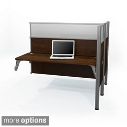 Bestar Pro-Biz Double Add-on Desk Section with Adjustable Legs