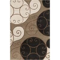 Porch & Den Farrar Hand-tufted Wool Abstract Area Rug - 8' x 11'/Surplus