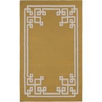 Hand-woven Addai Reversible Split Pea Wool Area Rug - 8' x 11'