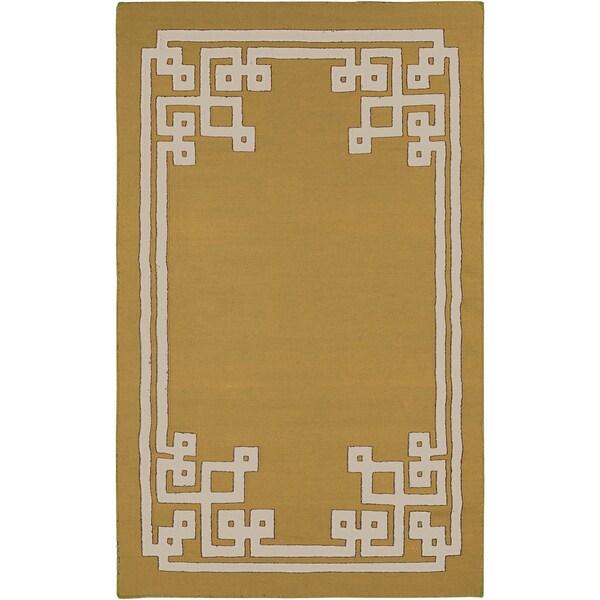 Hand-woven Addai Reversible Split Pea Wool Area Rug - 8' X 11'