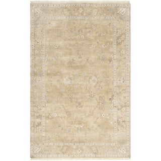 Hand-crafted Shakopee Traditional Ivory Wool Oriental Rug (8'6 x 11'6)