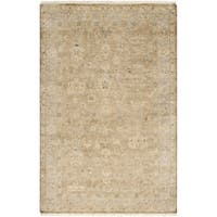 Hand-crafted Minnetrista Traditional Beige Wool Area Rug - 9' x 13'