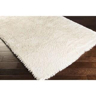 Hand-woven Anoka Casual White Shag Area Rug (8' x 10')