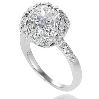 Journee Collection Sterling Silver Cubic Zirconia Love-themed Bridal-style Ring