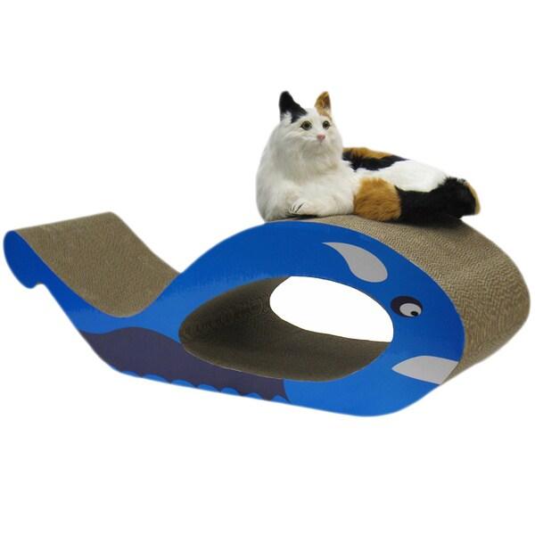 Go Pet Club Cat Scratching Board Whale Lounge