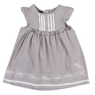 Calvin Klein Toddler Girl's Ruffle Sleeve Light Grey Dress