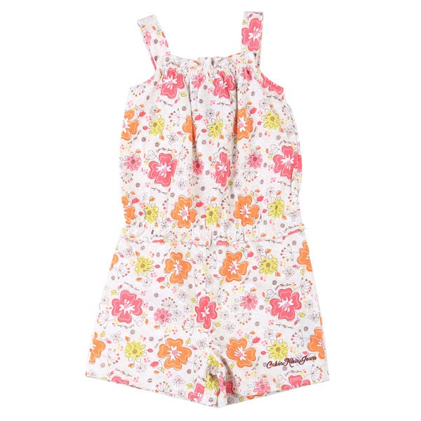 Calvin Klein Toddler Girl's Colorful Flower Printed Romper