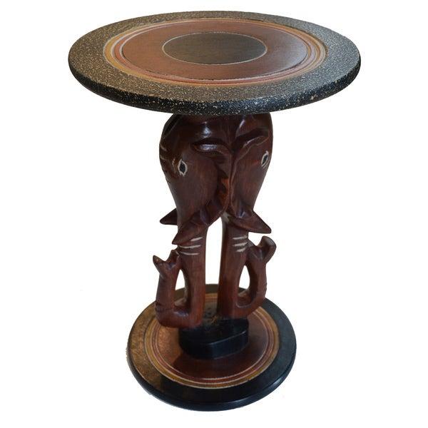 Hand-created Pachyderm Companion Table (Ghana)