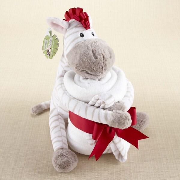 Baby Aspen Zoey the Zebra Plush Zebra and Blanket Gift Set