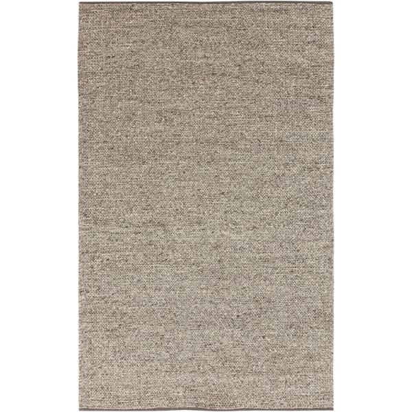 Hand-woven Eagan Casual Solid Brown Wool Area Rug - 5' x 8'