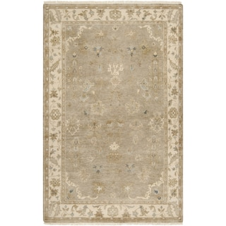 Hand-crafted Mankato Traditional Oriental Beige Wool Rug (2' x 3')