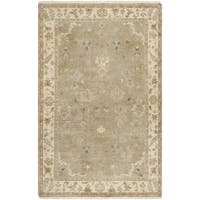 Hand-crafted Mankato Traditional Oriental Beige Wool Area Rug - 2' x 3'