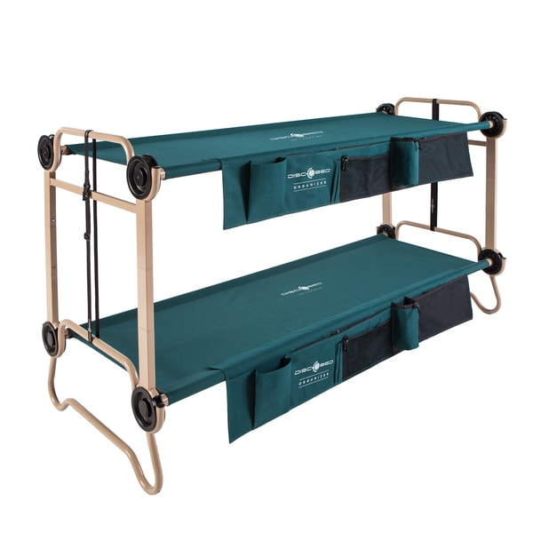 Large Disc-O-Bed with 2 Side Organizers and Leg Extensions