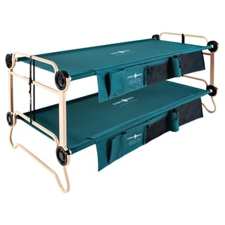 Disc-O-Bed Cam-O-Bunk XL Green Polyester Bunk Bed