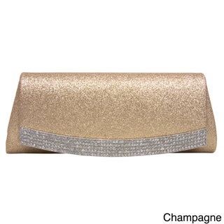 J. Furmani Women's 'Elegance' Rhinestone Flap-Over Top Panel Clutch