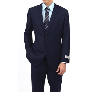 Tazio Men's Slim Fit Navy 2-button Suit (Option: 38r)