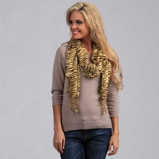 Peach Couture Women's Lightweight Zebra Striped Scarf