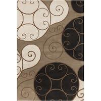 Porch & Den Farrar Hand-tufted Wool Abstract Area Rug - 9' x 12'
