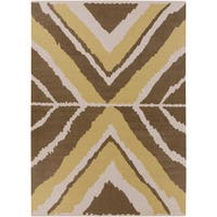Hand-woven Addo Reversible Dark Taupe Wool Area Rug - 8' X 11'
