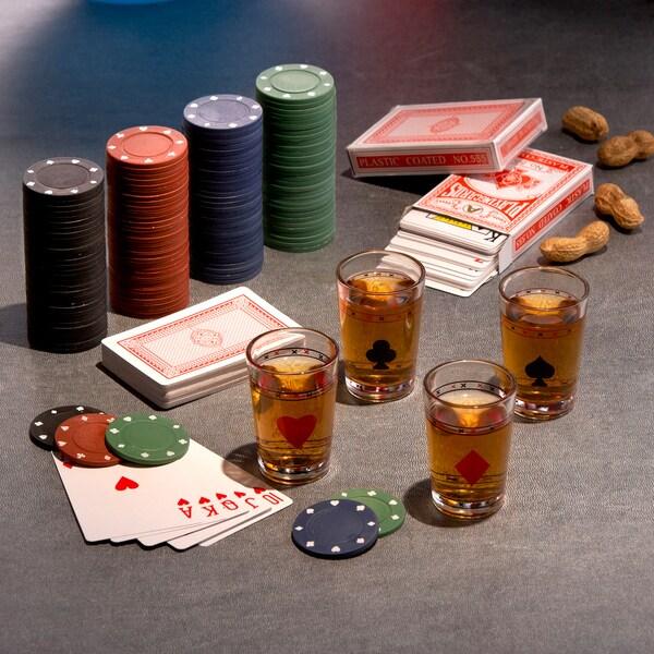 Game Night Poker/ Drinking Game Set