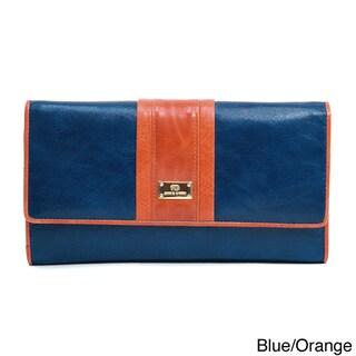 Anais Gvani Classic Genuine Leather Tri-fold Wallet