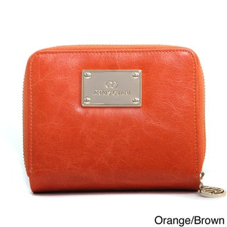 Anais Gvani Genuine Leather Block-Color and Zip-Around Wallet