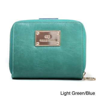 Anais Gvani Genuine Leather Block-Color and Zip-Around Wallet