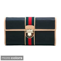 Anais Gvani Women's Classic Two-Tone Tri-fold Wallet