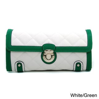Anais Gvani Fashion Quilted Two-Tone Clutch Style Wallet