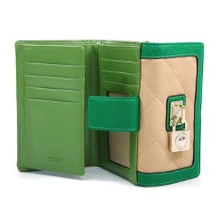 Anais Gvani Classic Petite Quilted Two-Tone Bi-fold Wallet